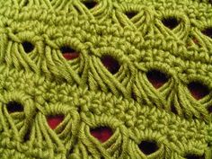 """#Crochet_Stitch - """"This gorgeous texture is so easily achieved. Just work 2 rows of single crochet, 1 row of single crochet over the broomstick (big knitting needle), 1 row of single crochet over the large loops. Voila! A very impressive scarf or shawl!"""" #KnittingGuru Enjoy!"""
