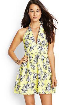 Floral Halter T-Back Dress | FOREVER21 - 2000067910
