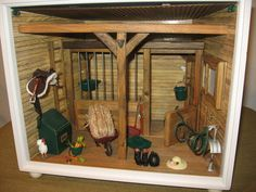 American Girl Illuma Room / Box Horse Stable AG Mini Electric EC-INC OTHER ACC   #HousesFurniture