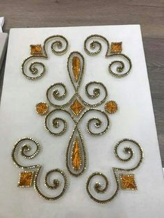 Mine Hand Embroidery, Machine Embroidery, Gold Work, String Art, Projects To Try, Diy Crafts, Beads, Wooden Art, Nail String