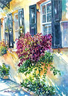 Luminous watercolor, Charleston SC