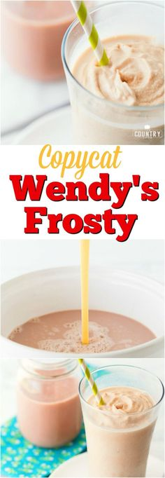 Copycat Wendy's Frosty recipe from The Country Cook