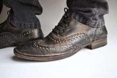 Handmade Curried leather  Men Laceup Shoes   by MDesignWorkshop, €250.00