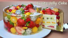 Jelly Cheesecake, Cheesecake Recipes, Dessert Recipes, Jello Cake, Vanilla Sponge Cake, Fruit Sponge Cake, Beautiful Fruits, Let Them Eat Cake, Yummy Cakes