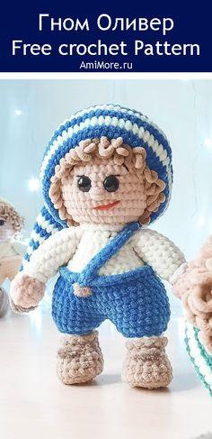 PDF Гном Оливер крючком. FREE crochet pattern; Аmigurumi doll patterns. Амигуруми схемы и описания на русском. Вязаные игрушки и поделки своими руками #amimore - плюшевый гном, гномик из плюшевой пряжи, мальчик, кукла, куколка, gnom, dwarf, doll, puppet, muñeca boneca, poupée, puppe, panenka, bebek, lalka. Amigurumi doll pattern free; amigurumi patterns; amigurumi crochet; amigurumi crochet patterns; amigurumi patterns free; amigurumi today.