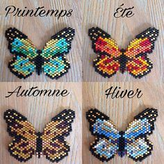 Discover recipes, home ideas, style inspiration and other ideas to try. Seed Bead Patterns, Jewelry Patterns, Beading Patterns, Bead Jewellery, Beaded Jewelry, Motifs Perler, Brick Stitch Earrings, Peyote Beading, Beaded Animals