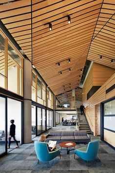 Investment Strategies: Gould Evans Brings an Edge to ValueAct Capital | Projects | Interior Design Carpet tile in recycled nylon flows past a break-out area. #office
