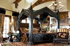 Pretty ridiculous bed frame. Gothic Interior Design Style