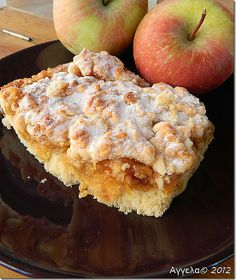 Greek Desserts, Greek Recipes, Fruit Recipes, Low Calorie Cake, Apple Chips, Pie Cake, Sweet And Salty, Sweet Treats, Food And Drink