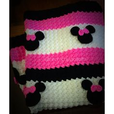 Minnie Mouse Blanket | Handmade Minnie Mouse Afghan | Minne Mouse Baby Blanket…