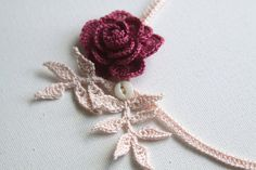 Rose Crochet Necklace