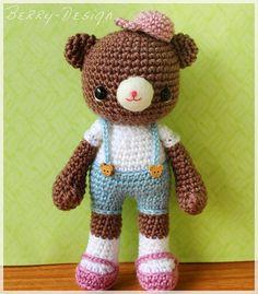 PDF Crochet Pattern  Mocha only boy bear by berriiiz on Etsy, $3.75