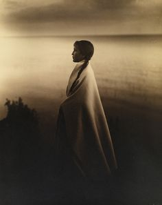 Portrait of an Ojibway, or Chippewa Indian girl in 1907. Photograph by Roland W. Reed, #NationalGeographic