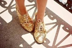 Gold Glitter Oxfords -not an Oxford shoe fan but these are too cute