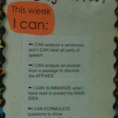 add I can statements to weekly homework chart? Classroom Setting, Classroom Ideas, Homework Chart, School Stuff, Back To School, Core I, Action Research, Learning Targets, I Can Statements