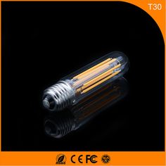 50PCS 6W E27 B22 Led Bulb, T30 LED COB Vintage Edison Light ,Filament Light Retro Bulb AC 220V