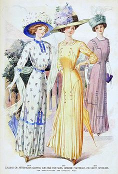 From the August 1910 issue of McCall's magazine.  vintage fashion dresses