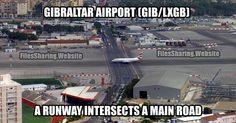 Gibraltar Airport true fact! #Gibraltar   #GibraltarAirport   #RockOfGibraltar   #true   #fact