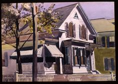 Edward Hopper Marty Welch's House | 1928. Watercolor on paper. 35,6 x 50,8 cm. Private collection.