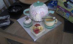 Edible Tea party theamed cake