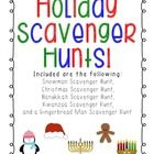 Includes five winter/holiday themed scavenger hunts to do in the classroom. What a great center idea!