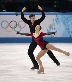 Stefania Berton and Ondrej Hotarek of Italy compete in the pairs free skate figure skating competition at the Iceberg Skating Palace during ...