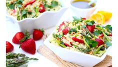 Strawberry and Asparagus Orzo Salad | Wayfair