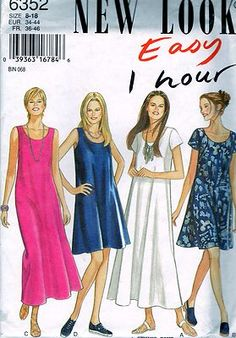 Misses dress size 8 to 18 uncut sewing pattern free shipping