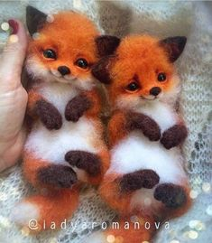 "cute fox Comment ""fox"" in your language Hand crafted baby foxes Follo Baby Animals Pictures, Cute Animal Photos, Cute Animal Drawings, Funny Animal Pictures, Baby Animals Super Cute, Cute Little Animals, Cute Funny Animals, Fluffy Animals, Felt Animals"