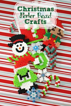 Looking for a fun way to spend a snowy afternoon inside? How about some Christmas Perler Bead crafts to occupy both you and the kids?