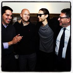 Me, Jason Kilar, Daniel Ek, + Lucian Grainge at Founders Forum 2013. http://instagram.com/p/VrycbpTBXX/#