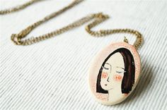 Ceramic Pendant, Necklace, Ceramic Jewelry