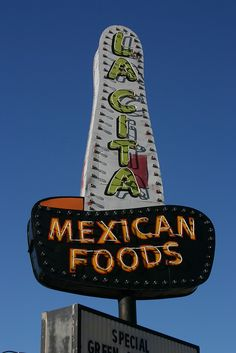 La Cita Mexican Foods ~ Classic Neon Sign. Tucumcari, NM.