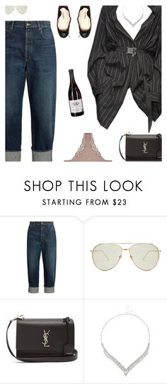 """""""Untitled #5218"""" by amberelb ❤ liked on Polyvore featuring Golden Goose, Collection Privée?, Linda Farrow, Yves Saint Laurent, Jon Richard and Fleur du Mal"""