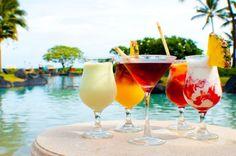 Tropical Drinks at the Grand Hyatt Kauai