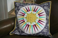 NY Beauty swap pillow by freshlypieced, via Flickr