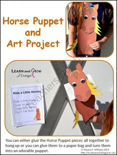 Horse Puppet and Art Project with Nursery Rhyme Poster product from LearnandGrowDesigns on TeachersNotebook.com