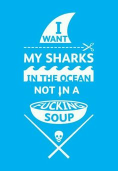 Save the sharks; kill the people