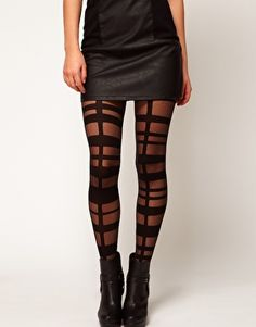 ASOS Grid Strapping Tights- For a walk on the wild side.