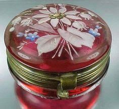 Victorian Cranberry Glass