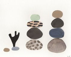 Stacked Stone Collage  by erindollar