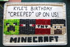 minecraft boys bedrooms | And once again, Aunt Danah made an awesome birthday cake. (She said ...