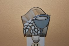 Stained Glass Night Light Wine Motif 3-D by Stainedglasslove