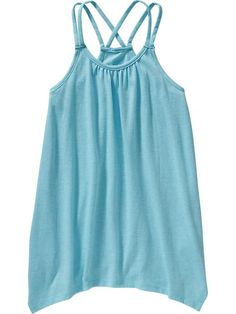 Girls Handkerchief-Hem Tanks