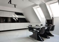 Modern Apartment Interior Design By Jovo Bozhinovski 02 Futuristic Table In  Kitchen Room