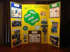 Girls Scouts - Back to School / Meet the Teacher / Recruitment Night display board