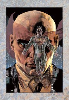 Superman Man of Steel Lex Luthor DC Comics Superheroes Superhero Lee Bermejo Comic Book Characters, Comic Character, Comic Books Art, Comic Art, Book Art, Superhero Characters, Superman And Lois Lane, Superman Family, Superman Art