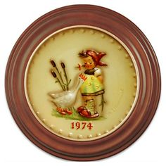 1974 Annual Hummel Plate No. 267 Goose Girl