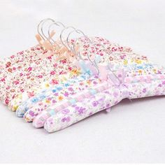 2Sets/10pcs Free Shipping Clothes Hanger Flowers Blossom Sponge Padded Clothes Hanger/Rack for Clothes FZ2198