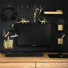 IKEA Skadis Pegboard Ideas & Inspiration. This wall mounted storage option is cheap and easy to DIY to fit any of your small space needs.   Apartment Therapy